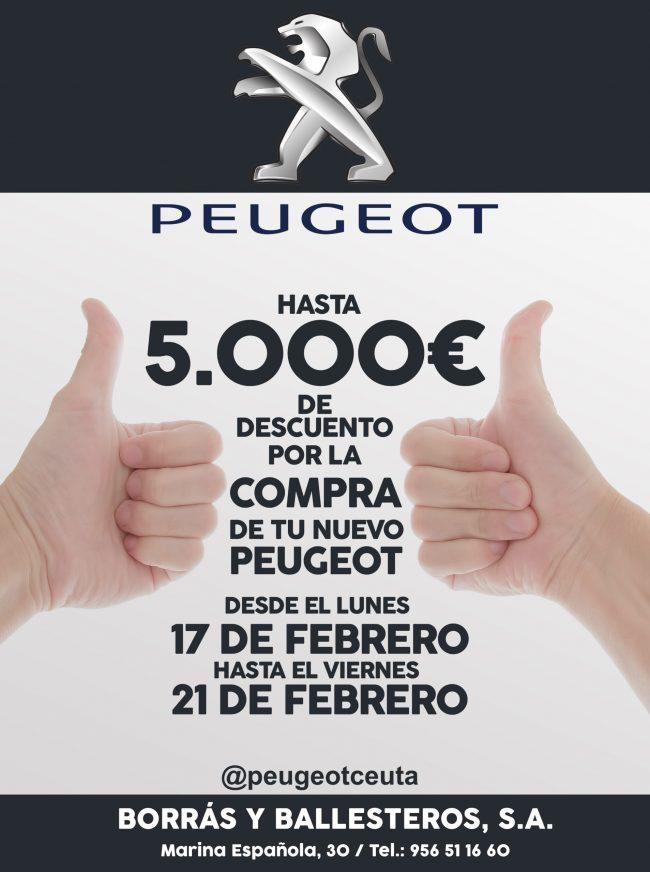 5000€DESCUENTO PEUGEOT CEUTA